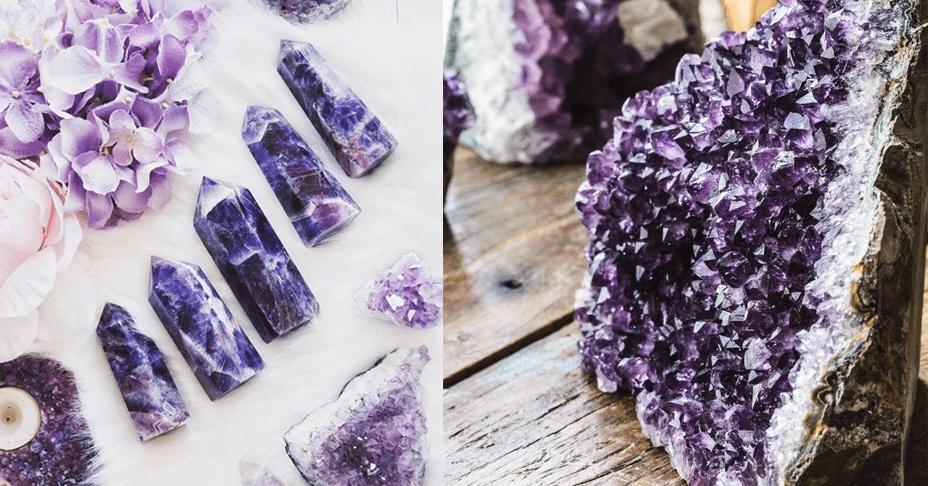 Cómo limpiar piedra amatista